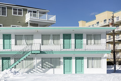 Bel Air Motel. (stevenbley) Tags: wildwood wildwoodcrest northwildwood nj newjersey beach winter snow offseason hotel motel january shore jerseyshore belairmotel belair
