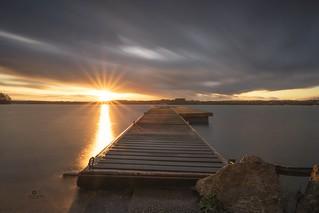 Cloudy winter sunset