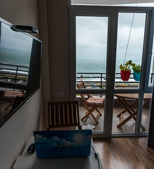 Airbnb (free3yourmind) Tags: airbnb batumi georgia house home rental rent sea view warm atmosphere computer laptop tv clouds cloudy