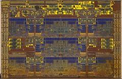 Intel@14nm@@Skylake@Skylake-X(LCC)@i7-7820X@SR3L5___DSCx1_polysilicon_microscope_stitched@5x (FritzchensFritz) Tags: microskope mikroskope x50 top polysilicon intel skylakex lcc tencore cpu 14nm i77820x sr3l5 chip core die shot silicon ceramic keramik gpupackage package gpudie dieshots dieshot waferdie wafer wafershot vintage open cracked size