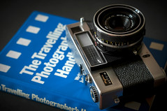 travel tog (macmarkmcd) Tags: camera filmcamera old fujica autom book nikon d300 50mmf18
