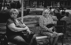 Romania Series #103 - Eye contact Street Photography (Mircea D. Tagui) Tags: româniastreetphotography dorohoiromania streetphotography eyecontactstreetphotography fujifilmxstreetphotography fujifilmxt2 fujinonxf35mmf14 monochrome blackandwhitestreetphotography