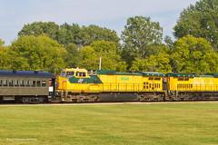 One More Twin Shot (tim_1522) Tags: railroad railfanning rail illinois il illinoisrailwaymuseum irm cnw chicagonorthwestern union generalelectric c449w