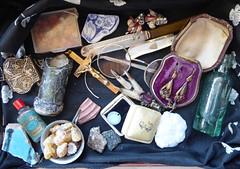 Wunderkammer (sallyNZ) Tags: scavenger13 curiosities wunderkammer antiquities