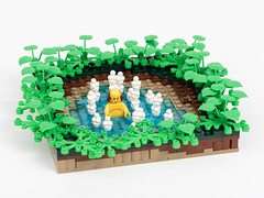 Hot Spring on Celestia (Jonas Wide ('Gideon')) Tags: lego landscape hotspring eurobricks brethrenofthebrickseas