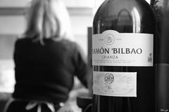 maturing as good wine (Bb'sight) Tags: wine bw blackandwhite woman lady home mom kitchen cocina madre vino love macro macromondays