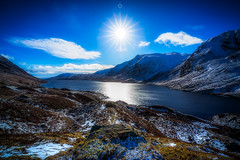 Cold Star (Augmented Reality Images (Getty Contributor)) Tags: bluesky longexposure perthshire landscape winter highlands water nisifilters scotland loch snow canon glenturret mountain rocks unitedkingdom gb