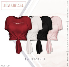 .miss chelsea. judi top group gift - out now! (Coral Lacey | Miss Chelsea) Tags: sl secondlife mesh fashion womens misschelsea free freebie gift