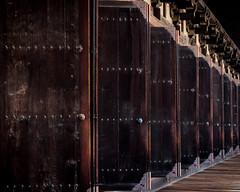 Dozens of Doors (campra) Tags: japan kyoto 京都 temple buddhist 寺 sanjūsangendō 三十三間堂 higashiyama 東山 door repetition series repeat vanishingpoint tendai kannon rengeoin 蓮華王院