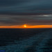 Sun rise 07.27hrs,  17/02/2018 from the Sun Deck on DFDS's King of Scandanavia ...