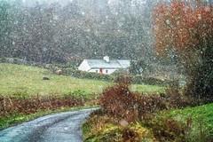 Snow Flurry (mickreynolds) Tags: comayo february2018 ireland nx500 westport wildatlanticway snow flurry cottage