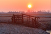Sunrise over a fence (Stephan Neven) Tags: sunrise field fence sky burning holland netherlands landscape krimpenerwaard cold morning meadow outdoor polder wood frost frozen
