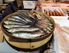 France:  'packed like sardines', Cahors market (ronmcbride66) Tags: sardines market €10 fish cahors cahorsmarket france fishstall sardinessalees sardinapichardus scales patterns