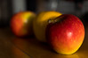 A (RubyT (I come here for cameradarie)) Tags: pentaxkp da2040ltd apples still life 52week1 lettera pentaxart pentax red yellow color