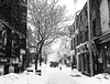 Montreal Chinatown in Winter (MassiveKontent) Tags: winter snow noiretblanc blackwhite montreal bw city monochrome urban blackandwhite streetphoto montréal quebec streetphotography bwphotography streetshot chinatown