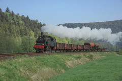 DB 75.1118 Michelau a d Saale 25/04/2009 (stefano.trionfini) Tags: train treni bahn zug steam dampf db br75 rhön baviera bayern germania germany