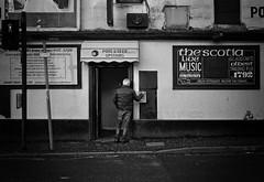 The Scotia (stephen cosh) Tags: 50mmsummilux blackandwhite candid film glasgow leicam7 scotland stephencosh streetphotography trix