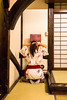 Ryokan in Yunishigawa, Nikko - Japan (Marconerix) Tags: ryokan nikko giappone japan hotel traditional traditionalhotel albergo pace riposo onsen legno giapponese yukata kimono specchio mirror tatami pettinare longhair pettinando preparation