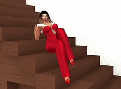 Grovy Sailing (Pixel Beast) Tags: über mod moders style fashion 1960s 1950s red sails suit baiastice georgie creamy hairstyle hair beusy kc soul cage hourglas maitrreya february round blog blogger stylist catwa secondlife second life sl outfit avatar avi burberry stairs stair pixel beast thepixelbeast pixelbeast week collabar88 collab 88 21 custom 9 fifty linden friday fifriday print modern soulcage bouffant chanel gucci versace ventage retro