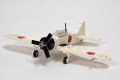 Mitsubishi A6M2 Zero update (2) (Dornbi) Tags: lego aircraft wwii mitsubishi zero a6m2