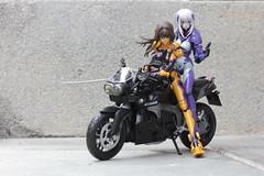 Double Rider (TKatagiri) Tags: yui takamura figma actionfigure cryska barchenowa muv luv muvluv bmw k1300r bike motor