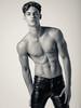 Bare chest (RIch-ART In PIXELS) Tags: portrait blackandwhite monochrome male man gay leather leatherjeans leatherpants chest