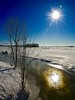 Reflet hivernal! (Imagin.air) Tags: hiver snow winter eau glace sky sun