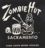 Zombie Hut - Sacramento, California (The Cardboard America Archives) Tags: california vintage restaurant matchbook detail tiki sacramento
