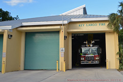 Key Largo Fire Station 25 (Martijn Groen) Tags: keylargo florida 2017 november firestation firehouse ladder ladder25 ferrara ferrarahd57 firedepartment firetruck