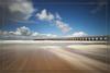 De pier te Blankenberge (Schotje) Tags: pier blankenberge lange sluitertijd zand water lucht wolken strand kust zeelandschap noordzee
