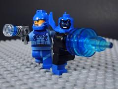 Blue Beetles (-Metarix-) Tags: lego super hero minifig dc comics comic universe blue beetle ted kord robbie reyes alien tech jamie