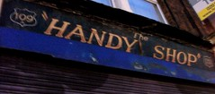 The Handy Shop  Ghost Sign Croydon 20/01/18. (Ledlon89) Tags: ghostsign sign croydon london shop facia oldsign paintedsign advert handyshop 1950s oldlondon oldshops shopfront