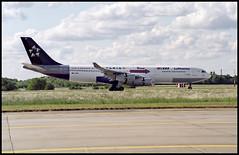 D-AIBA - Berlin Schönefeld (SXF) 23.05.1998 (Jakob_DK) Tags: a342 a340212 airbus airbusa340 a340 a340200 airbusa340212 eddb sxf schönefeld berlinschönefeldairport flughafenberlinschönefeld dlh lufthansa 1998 daiba staralliance