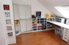 stage 3 (Sylon-tw) Tags: lego hobbyraum baubereich wip ikea billy playroom hobby room legostorrage storrage morliden saturn5 ikeahack walle collection minifigs simsons turtles batman collectible