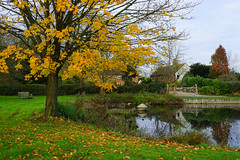 The village pond at Milton Bryan (Jayembee69) Tags: miltonbryan village pond water autumn england english gb britain british uk unitedkingdom beds bedfordshire duckhouse
