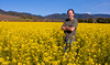 waste deep in mustard (.sanden.) Tags: sonoma california man standing mustard arms crossed smiling blue sky ef2470mm canon40d ca sanden us unitedstates