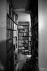 A tunnel of bookshelves! (ErdenizS) Tags: canon eos 5d mkii 5d2 books bookshelf bookstore tokina 17mm blackandwhite bw interior indoor