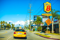 Not Even the Government (Thomas Hawk) Tags: america california losangeles southerncalifornia super8 super8motel usa unitedstates unitedstatesofamerica cab motel taxi taxicab fav10