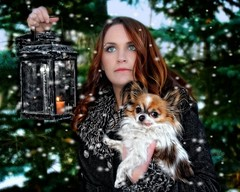 Snowflakes (Cindy Roy's Photography) Tags: snowflakes snow winter halmark dog pets fashion trees outdoors christmas xmas puppy nature people green lady pose festive weather