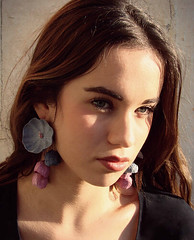 Handcrafted Paper Earrings from Alessandra Fabre Repetto (all things paper) Tags: paperjewelry paperearrings papermache papersculpture greenweddings ecofriendly earthfriendly ecoweddingdesign paperflowers