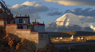 Sunset at the Sparrow monastery and Gang Ti Se, Tibet 2017