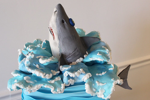 Shark Jumping Figurine Cake