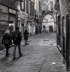"""Caruggi"" (giannipaoloziliani) Tags: raw nikonphotography nikoncamera italy italia genoa genova obscure obscurity alleys alleysofgenoa capture dark darkness shapes people walls facades view vicoli vicolidigenova capturestreets suburbs streetphotography unesco"