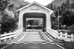 To All the Lights in the Windows (Thomas Hawk) Tags: america gravecreek gravecreekbridge oregon southernoregon sunnyvalley usa unitedstates unitedstatesofamerica bridge bw coveredbridge wolfcreek us fav10 fav25 fav50