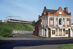 The Railway, Winson Green, May 1993 (David Rostance) Tags: soho winsongreen birmingham pub therailway dvt stourvalley car bmw