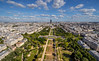 Champs de Mar and Montparnasse and clouds from Eiffel Tower (mahesh.kondwilkar) Tags: champsdemars cityscape clouds directionsoutheast europe france montparnassetower paris sky tourmontparnasse city hdr handheld