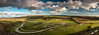 High and Over hill - Litlington White Horse view (Richard French Photography) Tags: panoramic photo highandoverhill litlingtonwhitehorse seaford enjoy photography landscape landscapes photographer countrypark countryside sky greenfields clouds rivers forests eastsussex eastbourne uk southcoast