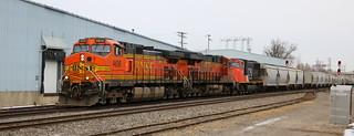 BNSF 4626, 7883, CN 5772, Chapman, Neenah, 17 Feb 18