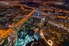 Dubai at night (Katherine Young) Tags: dubai burj khalifa uae emirates view city cityscape urban panorama night lights middleeast burjkhalifa unitedarabemirates dubaimall mall shopping travel tourism destination attraction skyscrapers buildings architecture nikon d800 offices hotels water gulf roads traffic