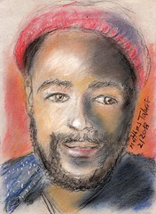 Remember Marvin Gaye (1) (Matthias Talmeier) Tags: marvingaye soulmusic musik portrait pastell pastel drawing charcoal